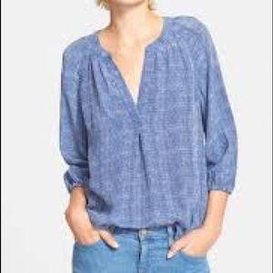 Joie Addie B Silk Blouse blue XS